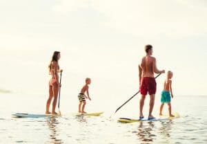 Family Paddle Boarding Compressed
