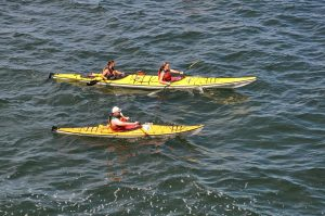 Tandem fishing kayaks